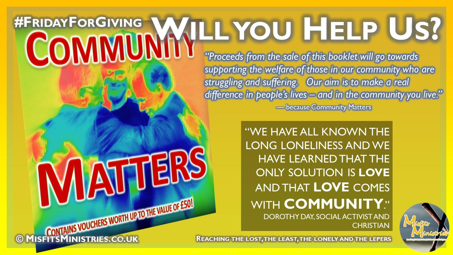 FridayForGiving - Will you help us - Community Matters