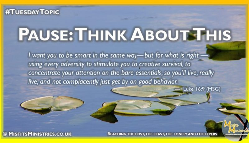 Tuesday Topic 2021wk18 - Pause - Think About This by Joseph George