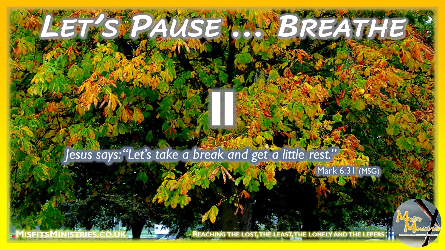 Tuesday Topic 2021wk40 - Let's Pause